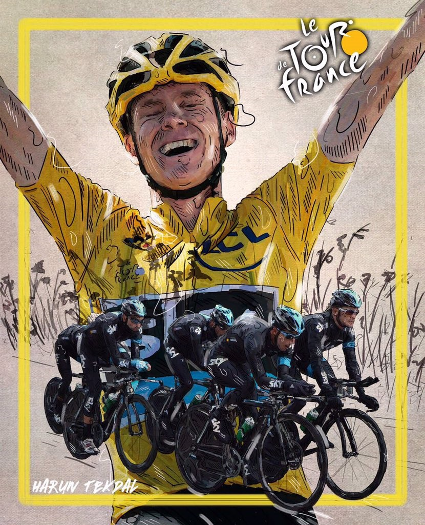 Chris Froome (illustration by Harun Tekdal)