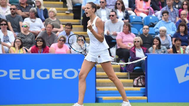 WTA Eastbourne (final), Pliskova-Wozniacki: Vuelta a la senda del triunfo 6-4 y 6-4
