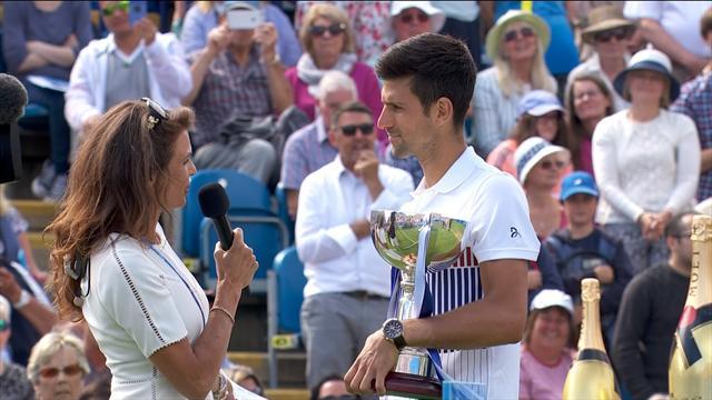 """ATP Eastbourne, Djokovic: """"Es la mejor preparación que he podido tener para Wimbledon"""""""
