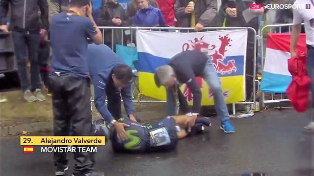 Kniescheibe gebrochen! Saison-Aus für Valverde nach Sturz