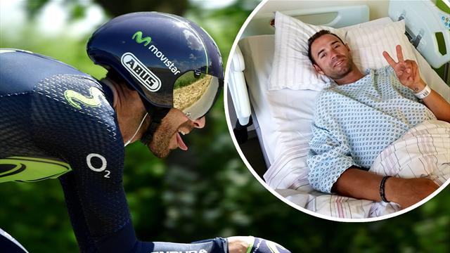"""Alejandro Valverde, en Eurosport: """"Cuando me vi la rodilla pensé que se había acabado mi carrera"""""""