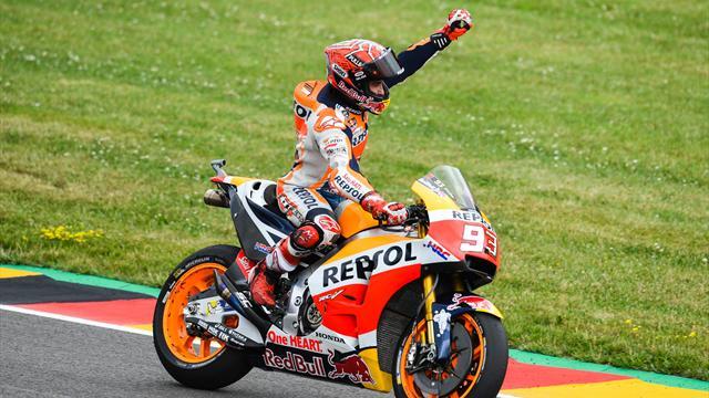 Almanya'da kazanan Marquez