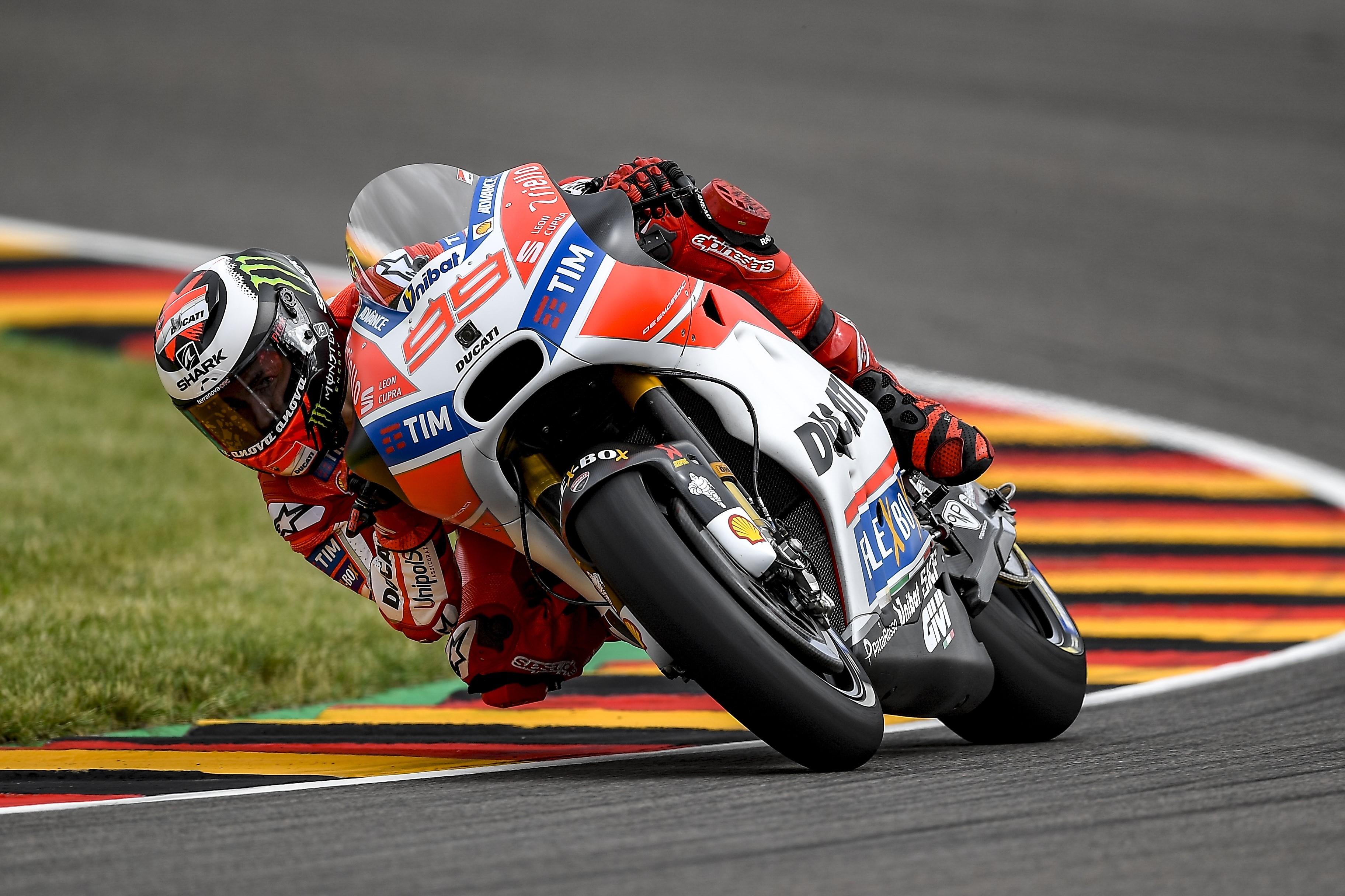 Jorge Lorenzo (Ducati Team) au Grand Prix d'Allemagne 2017