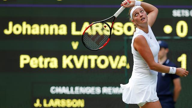 Kvitova continues fine form to dispatch Larsson