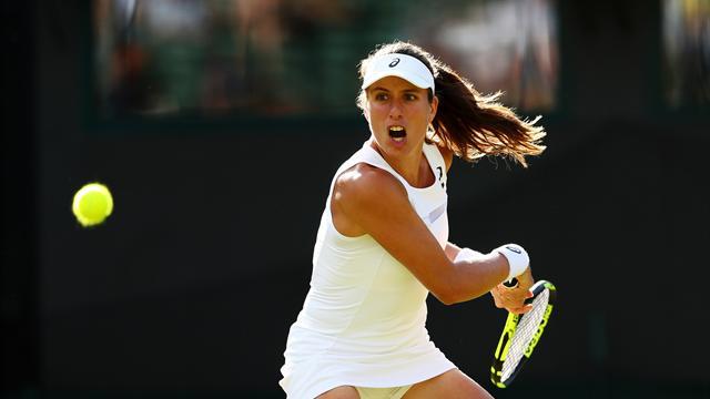 Konta keeps British flag flying at Wimbledon