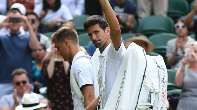 Djokovic gets easy first-round ride as Klizan retires in second set