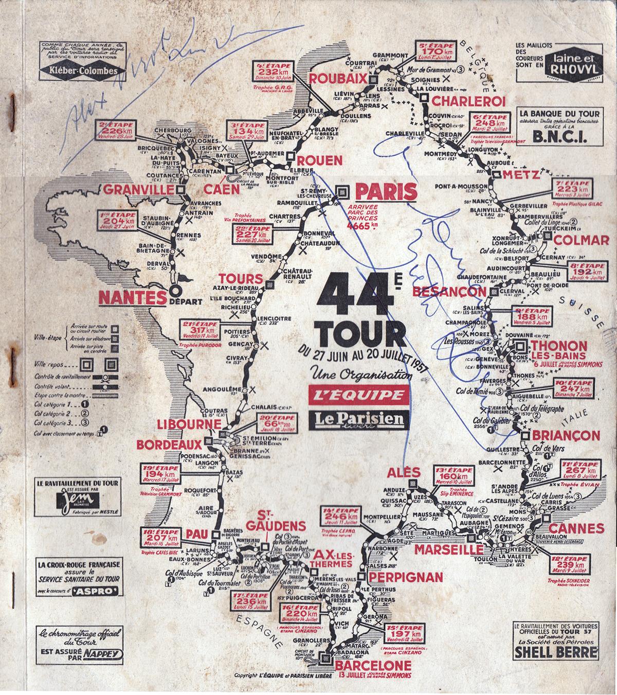 A map of the 44th Tour de France