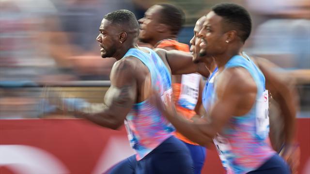 VIDEO: Gatlin wins Lausanne Diamond League 100m in 9.96 seconds