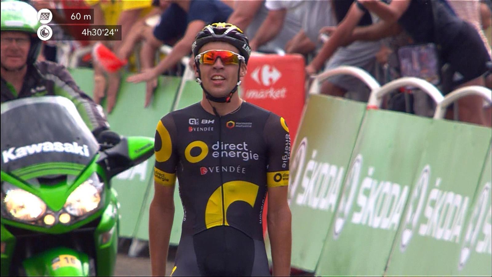 VIDEO - Tour de France 2017  Finish  Lilian Calmejane beats cramp to win  Stage 8 - Tour de France - Video Eurosport UK 689126c05