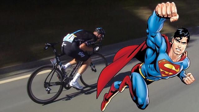 Ciclismo e discesa: qual è la posizione più efficace? Viaggio aerodinamico tra Froome e... Superman!