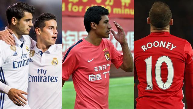 James, Paulinho y Rooney, los nombres del día