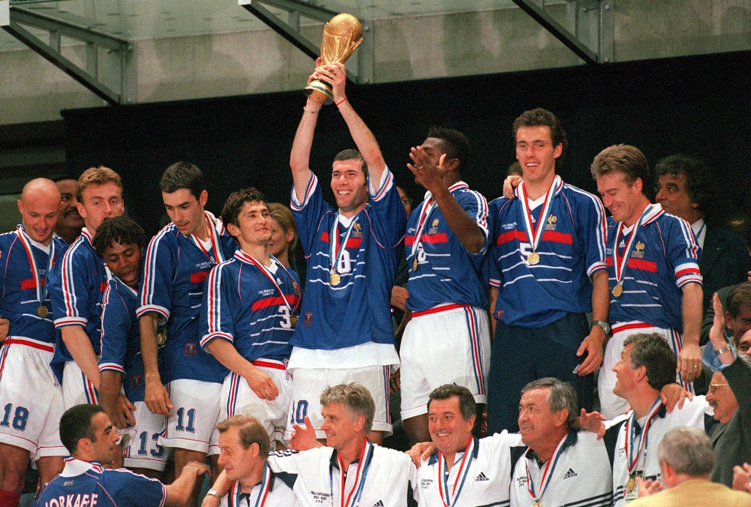 Zinedine Zidane en 1998