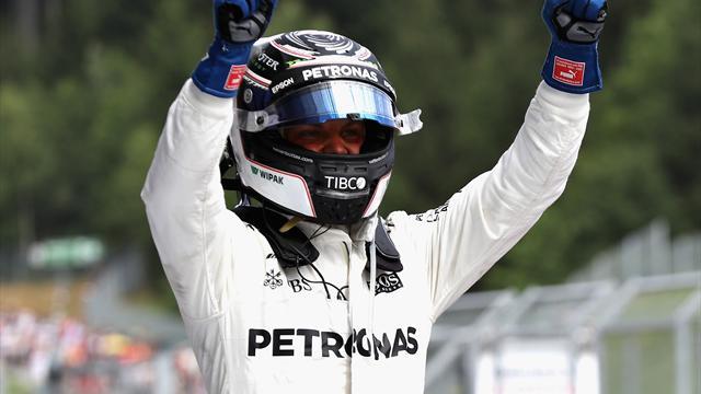 Fórmula 1, Gran Premio de Austria: Victoria de Bottas y Vettel, aún mas líder