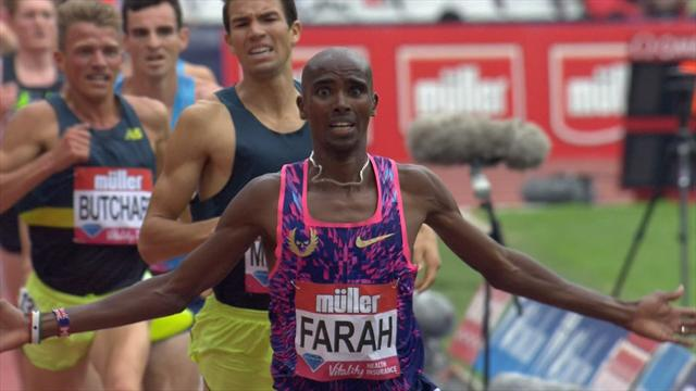 Farah clinches victory in the 3,000m at the Anniversary Games