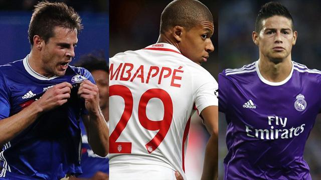 Azpilicueta , Mbappé, y James Rodríguez, los nombres del día
