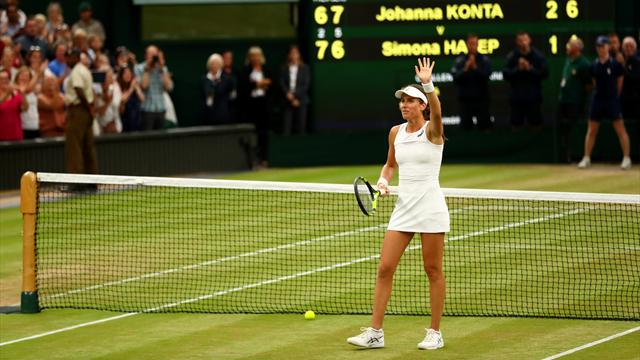 Konta élimine Halep et sacre Pliskova, nouvelle reine de la WTA