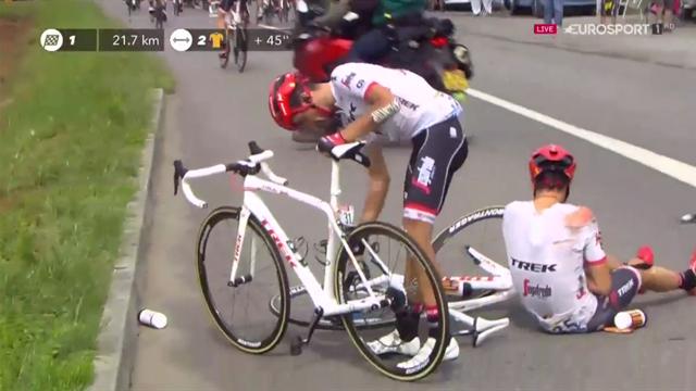 Tour de Francia 2017: Contador sufre dos nuevas caídas sin consecuencias