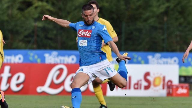 Napoli, è subito show: 17 gol alla Bassa Anaunia, 3 di Milik e 6 di Mertens
