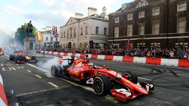 Hamilton the missing man as F1 hits London streets