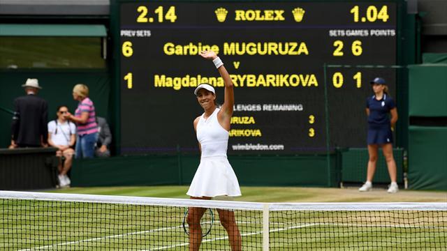 Muguruza muhteşem performansıyla ikinci Wimbledon finalinde