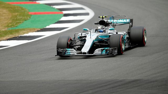 Bottas edges Hamilton in second practice at Silverstone