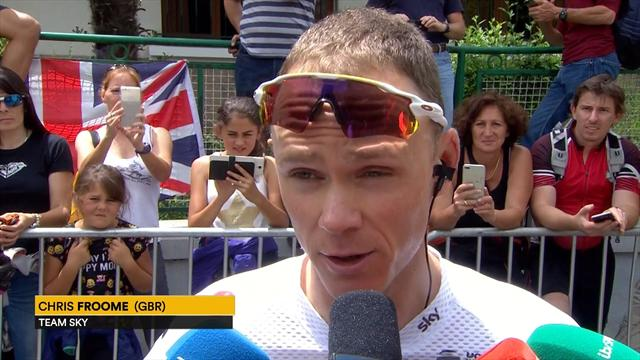 Froome: The pressure is on Astana to control the race... it's quite nice!