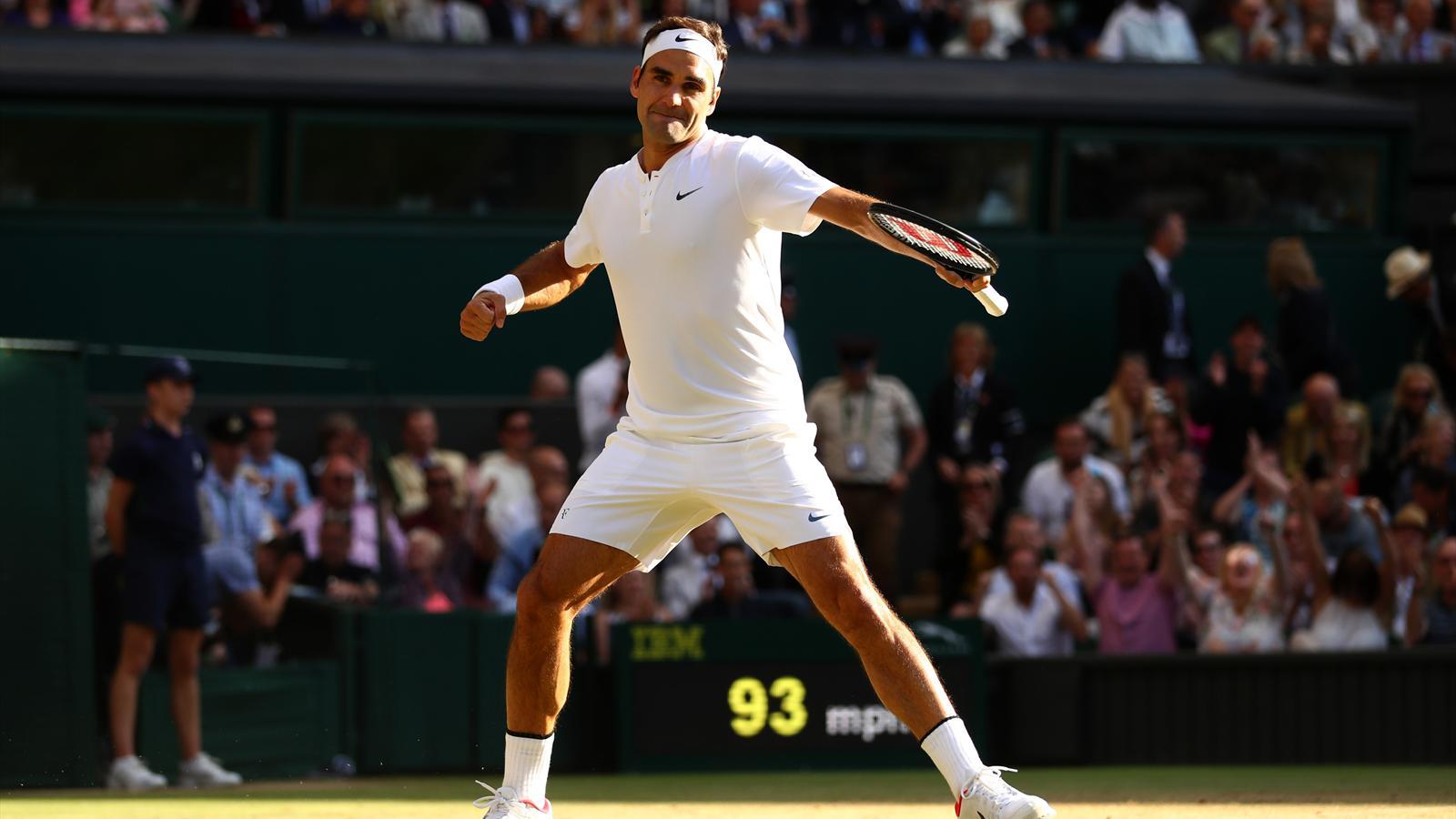 Roger Federer en finale après sa victoire contre Tomas Berdych