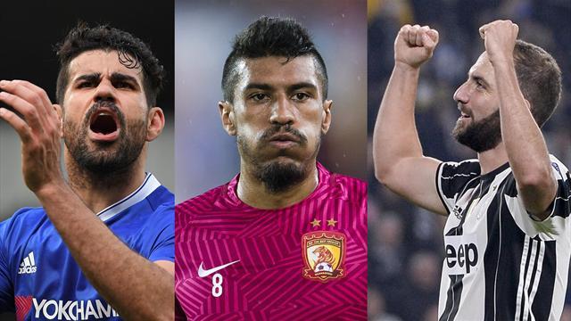 Diego Costa, Paulinho e Higuaín, los nombres del día