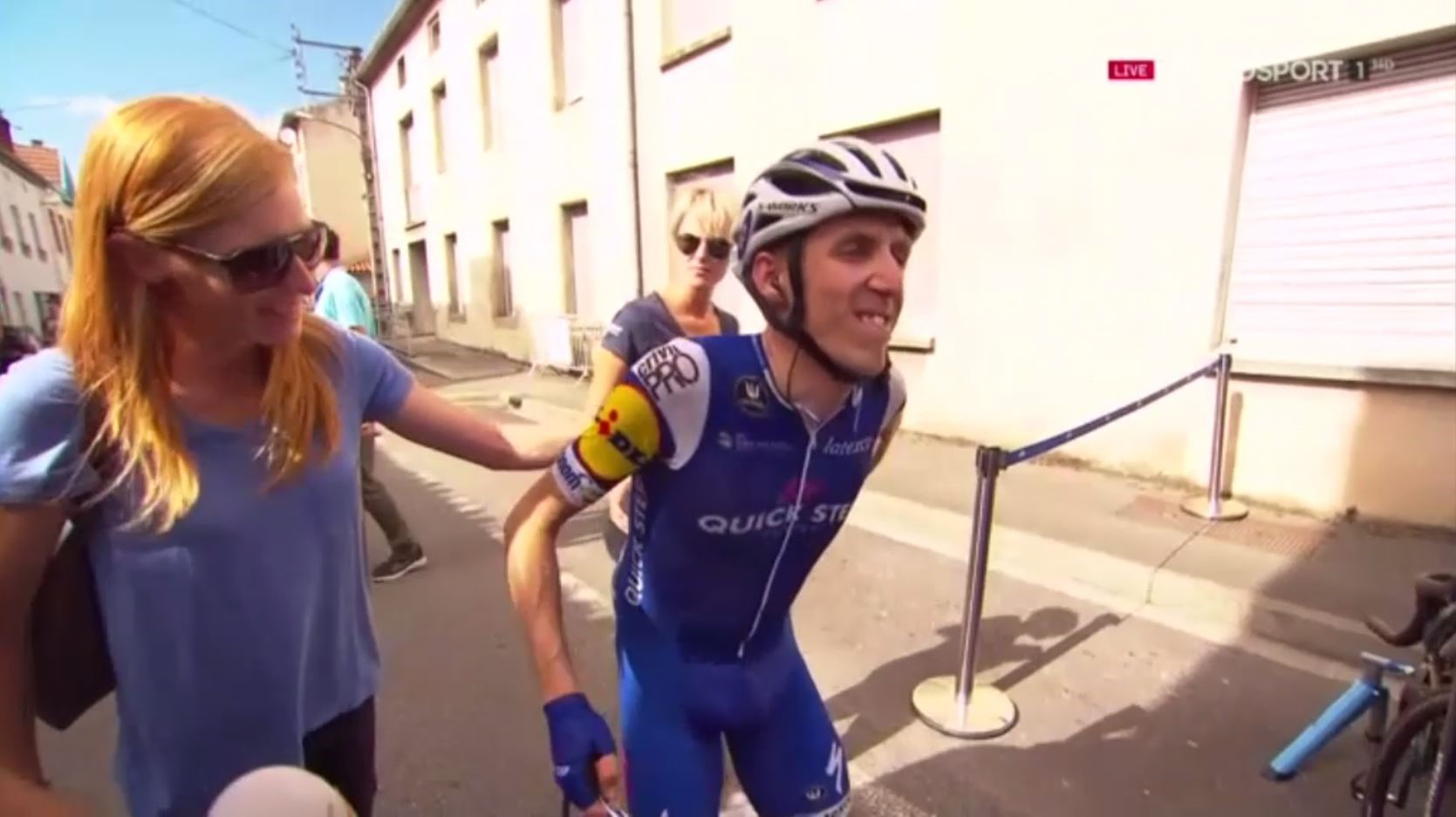 Dan Martin winces