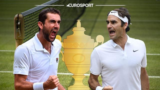 Sigue en directo la gran final entre Roger Federer y Marin Cilic