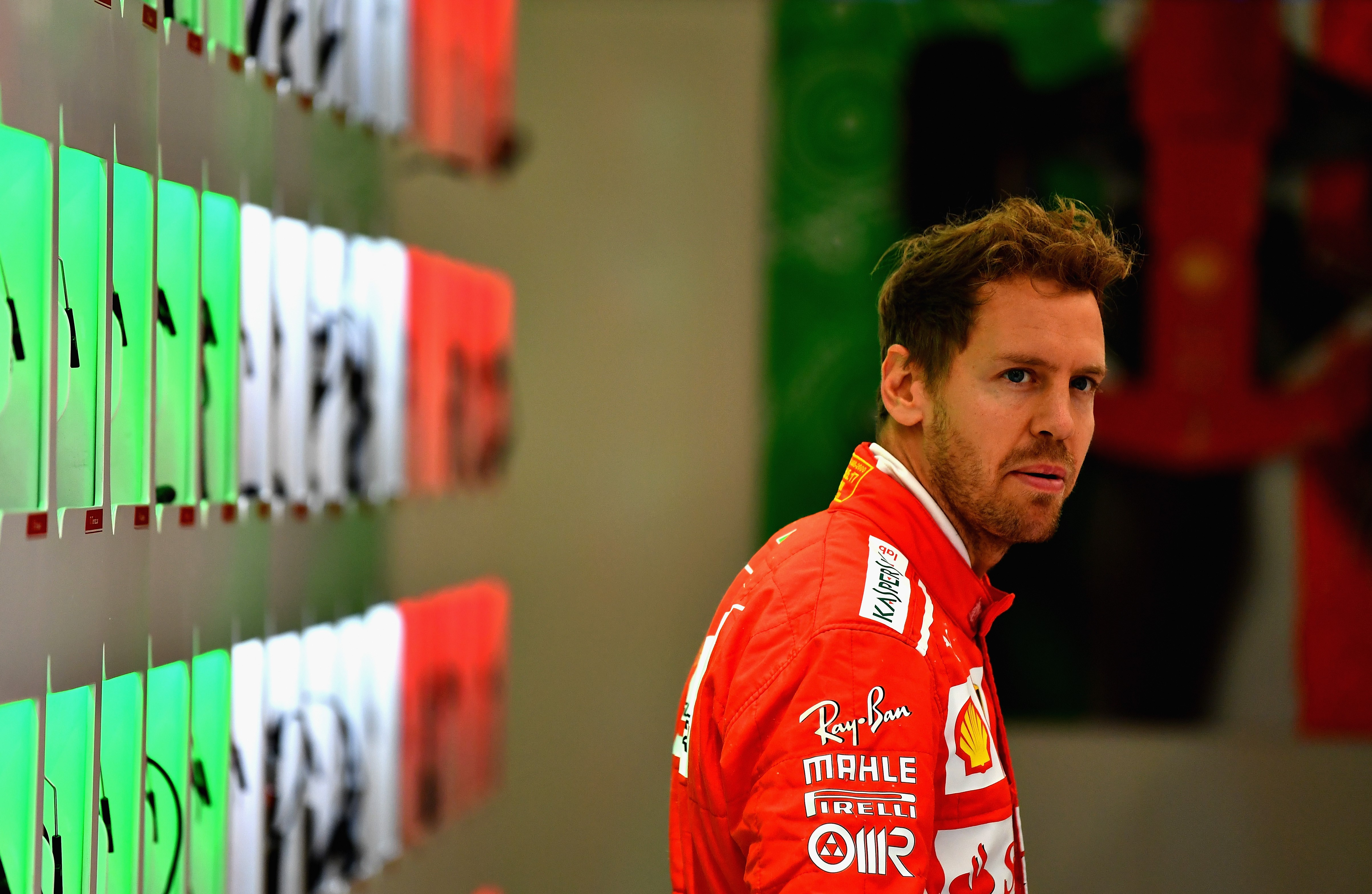 Sebastian Vettel (Ferrari) au Grand Prix de Grande-Bretagne 2017