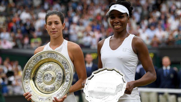 """Résultat de recherche d'images pour """"Garbiñe Muguruza, Venus Williams, Wimbledon, 2017"""""""