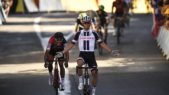 L'arrivée de la 14e étape : En costaud, Michael Matthews a maté Van Avermaet à Rodez