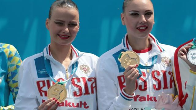 Пацкевич и Колесниченко выиграли золото ЧМ в технической программе синхронисток