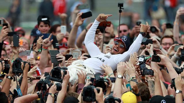 British Grand Prix: Hamilton breaks records, surfs crowd, Vettel breaks tyres