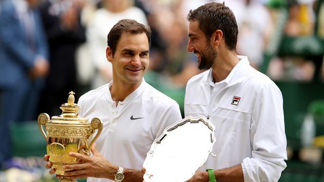 """Wimbledon 2017, Federer a Cilic: """"Jugar con una lesión es muy cruel, eres un héroe"""""""