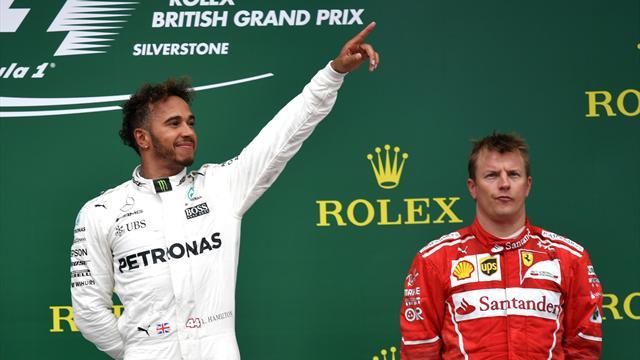 Hamilton stravince a Silverstone, le Ferrari crollano nel finale: Raikkonen 3°, Vettel 7°