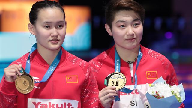 China gewinnt Gold im Turm-Synchronspringen der Frauen