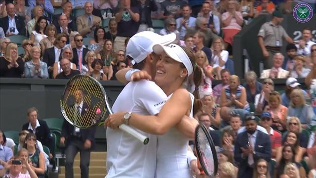 Wimbledon: Jamie Murray / Martina Hingis - Henri Kontinen / Heather Watson