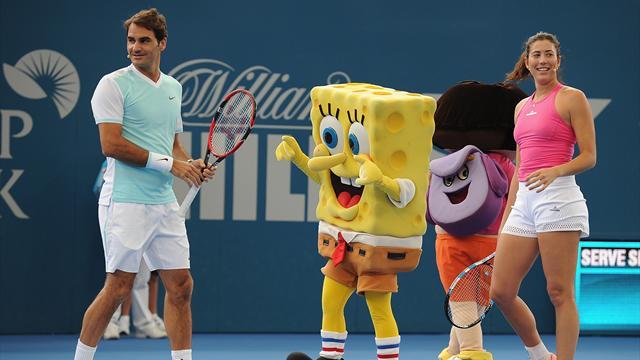 «Роджер, ты готов танцевать?» Федерер и Мугуруса нашли общий язык перед чемпионским ужином