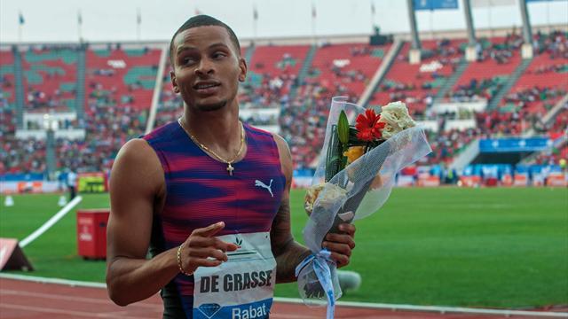 De Grasse wins 200m to book Diamond League finals spot