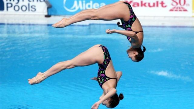 Ильиных и Бажина выиграли бронзу в синхронных прыжках в воду с 3-метрового трамплина