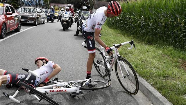 """Contador: """"Sin las caídas estaría luchando por el maillot amarillo"""""""