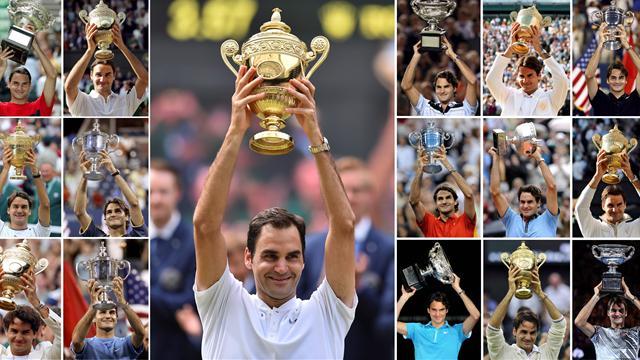 Le top des Grands Chelems de Federer