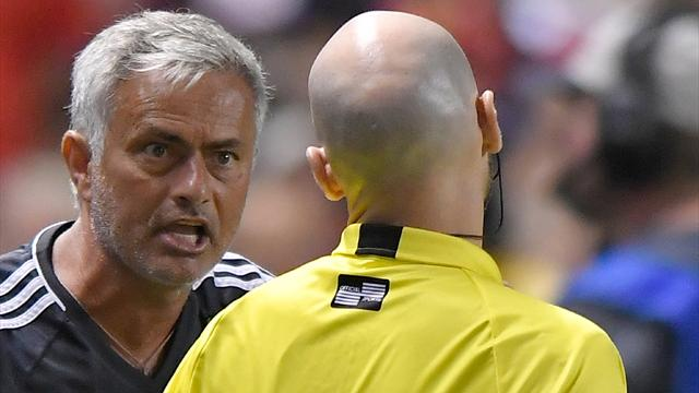 Mourinho slams referee after Valencia sees red with Lukaku off mark in United win