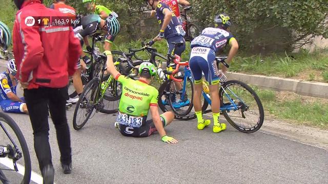 Kittel lâche le maillot vert après une chute — Tour de France