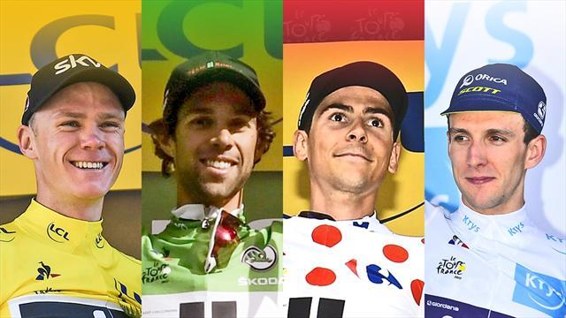 Les classements finaux du Tour : Froome, Matthews, Barguil et Yates distingués