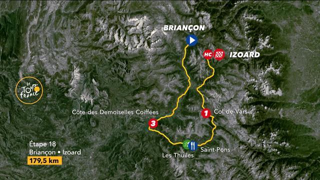 Video Tour Strecke Karte Profil Der 18 Etappe Auf Den Col D