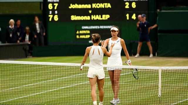 Konta v Halep quarter-final broke BBC record for women's Wimbledon match