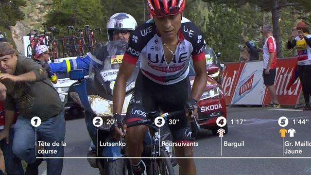 Tour de Francia 2017: Un gendarme tira a un aficionado colombiano al suelo